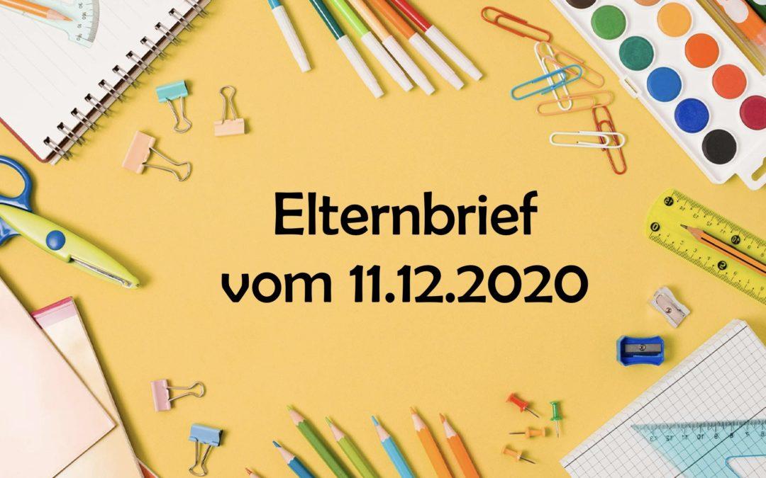 Elternbrief vom 11.12.2020