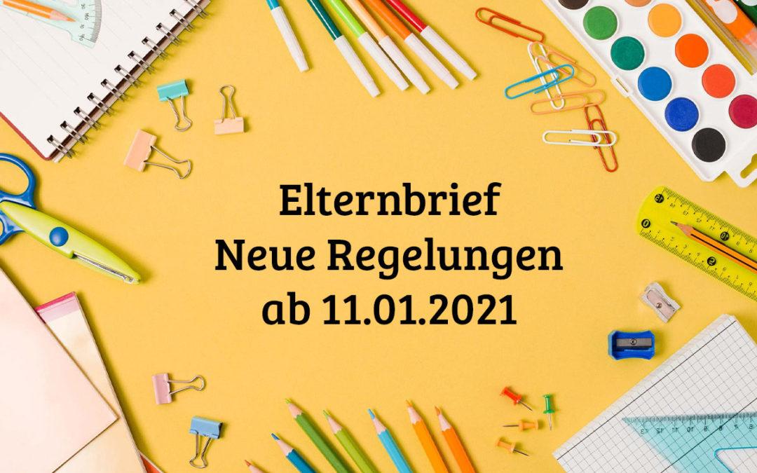 Elternbrief – Neue Regelungen ab 11.01.2021 (Aktualisierung)