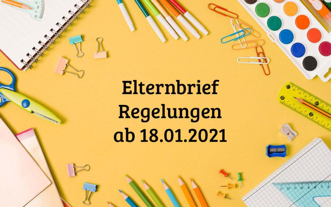 Neue Regelungen 18.01.2021