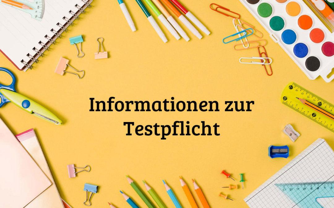 Informationen zur Testpflicht