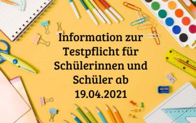 information testpflicht 19.04 400x250 - Willkommen